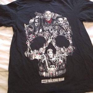 The Walking Dead Black Skull Tee